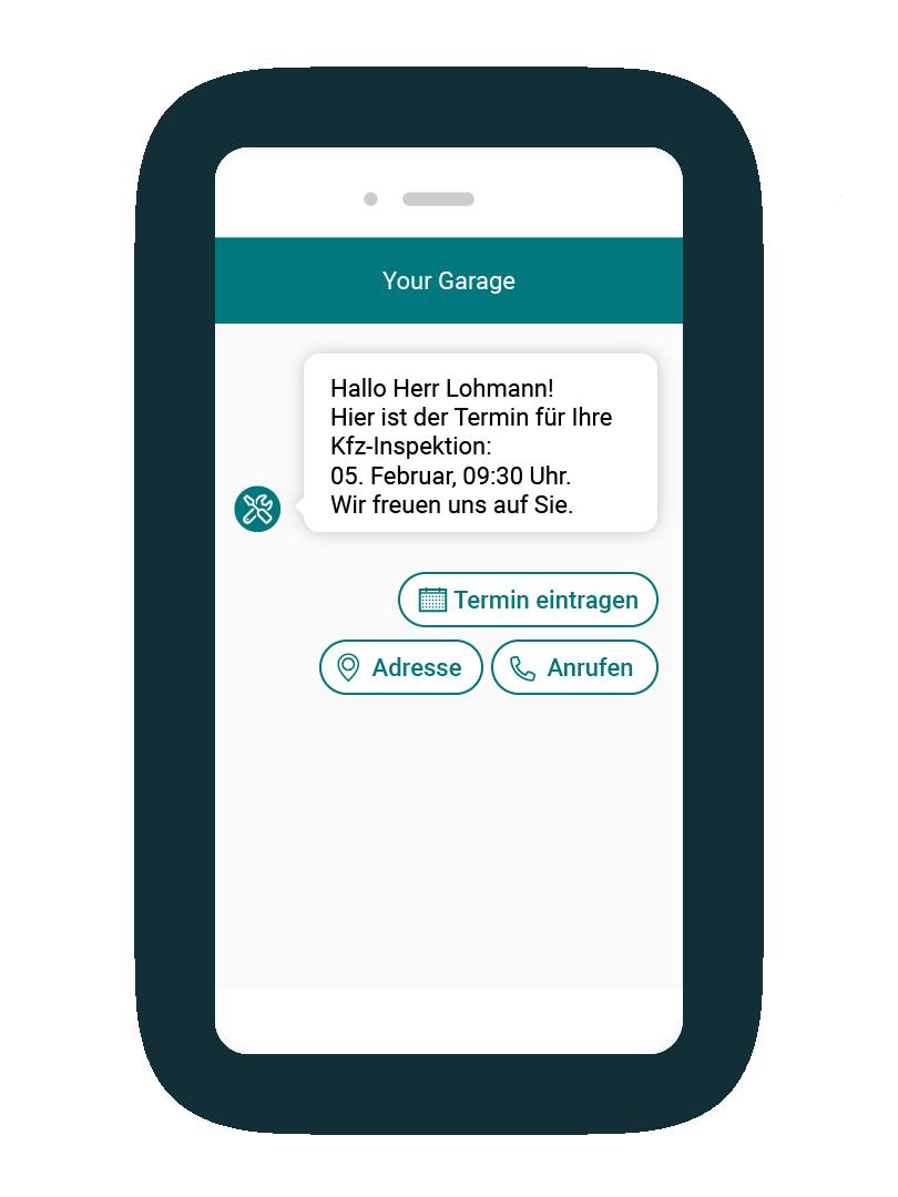 LINK Mobility - Als Erinnerungsfunktion für Werkstatt-Termine ist ein Chatbot die optimale Lösung