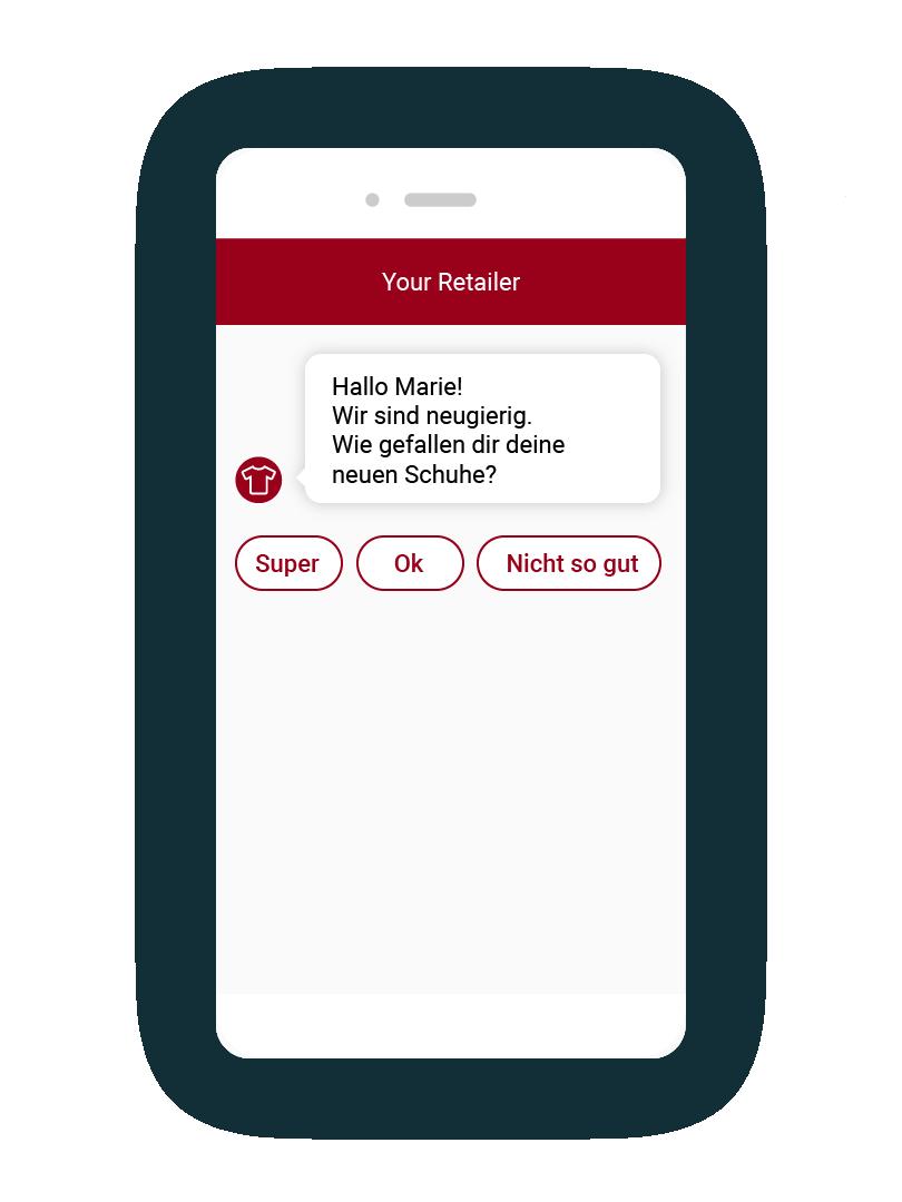 LINK Mobility - für Kundenumfragen lassen sich mit LINK Flow einfach Chatbots erstellen