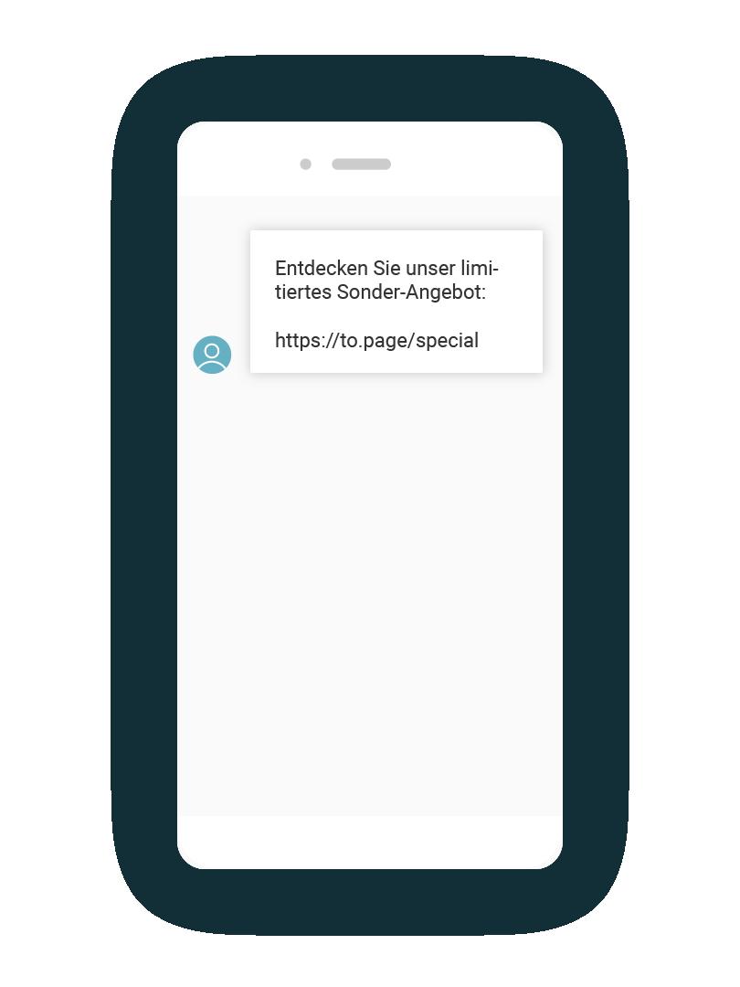 LINK Mobility - LINK Campaign Ansicht der SMS-Nachricht