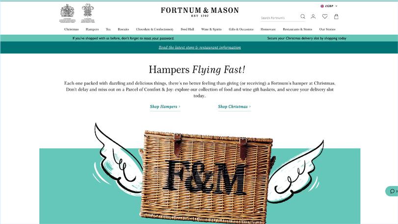 Fortnum & Mason ad