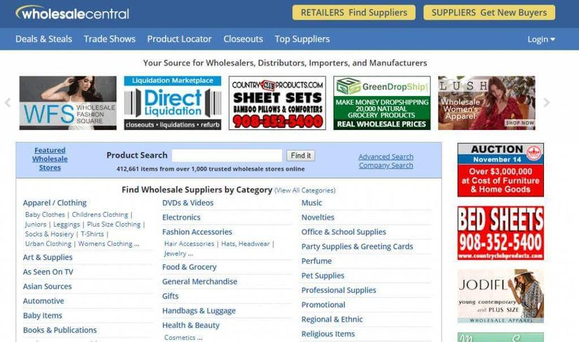 Wholesale Central Directory