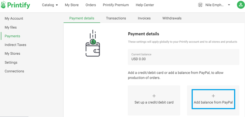 Add Balance From Paypal