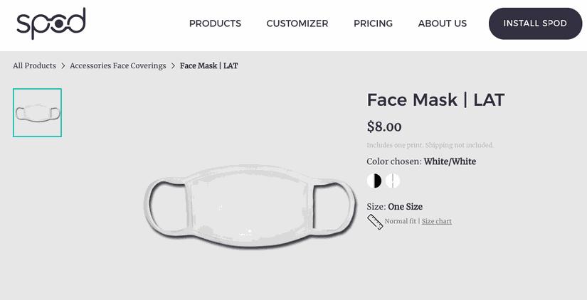 SPOD face mask