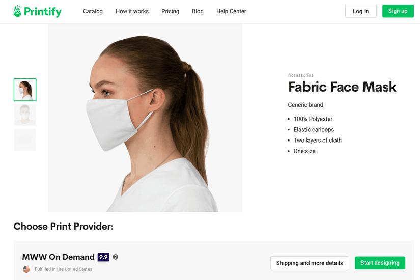 Printify face mask