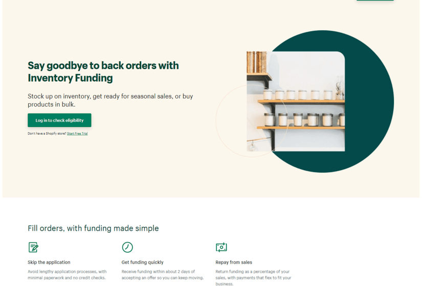 Shopify Capital Funding for Inventory