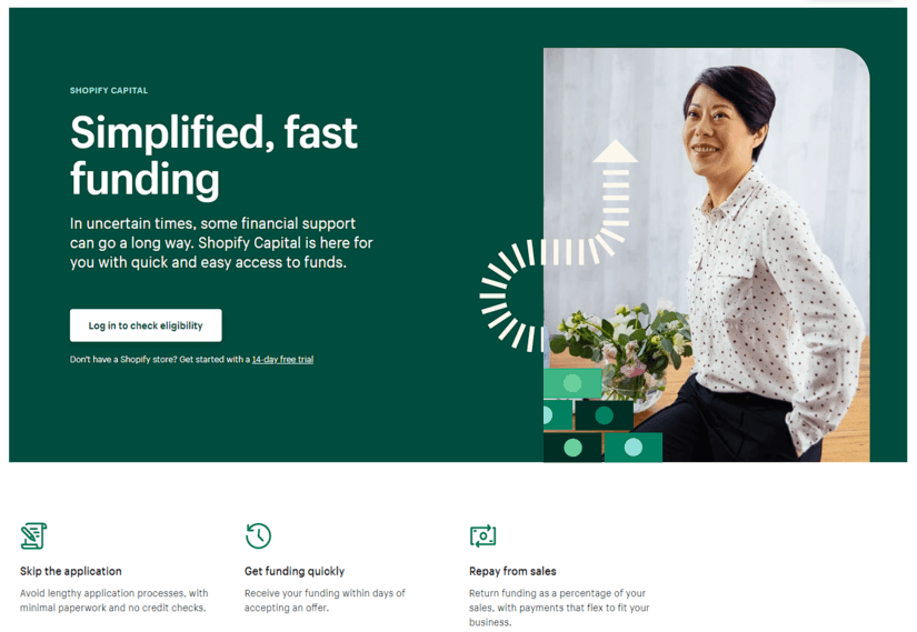 Shopify Capital Website