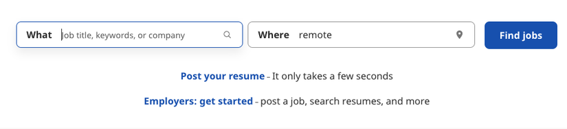 Find jobs at Indeed