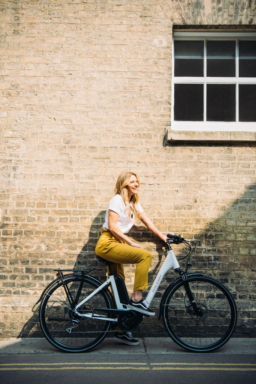 Woman resting on an ebike