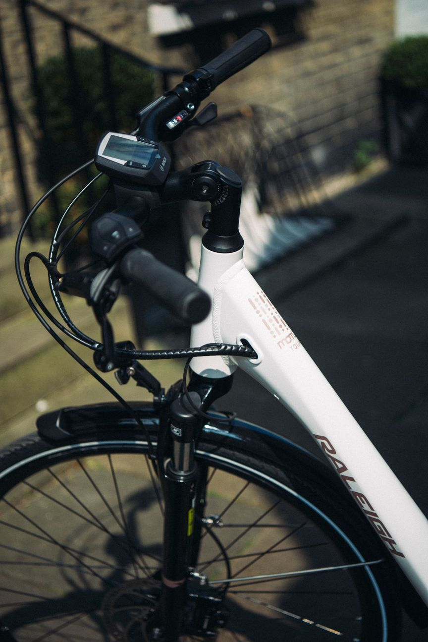 Close-up picture of a Motus bike