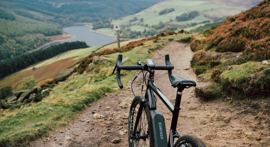 E-Bike on mountain trail