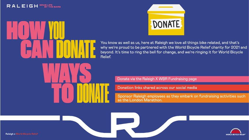 How to donate to World Bicycle Relief with Raleigh