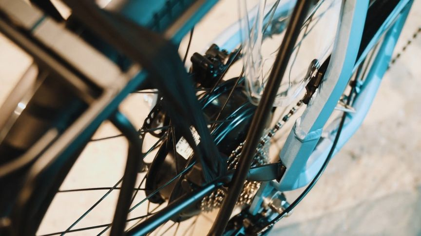 E-bike met achterwielmotor