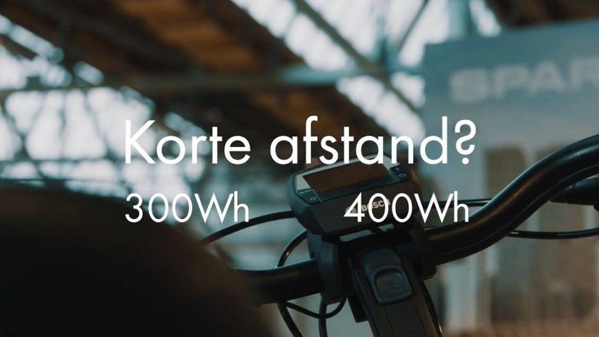 Sparta Xplains accu 300Wh en 400Wh voor korte afstand