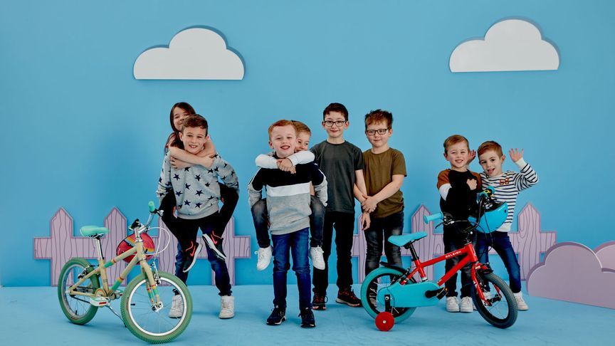 Kids with the Raleigh Pop kids bikes