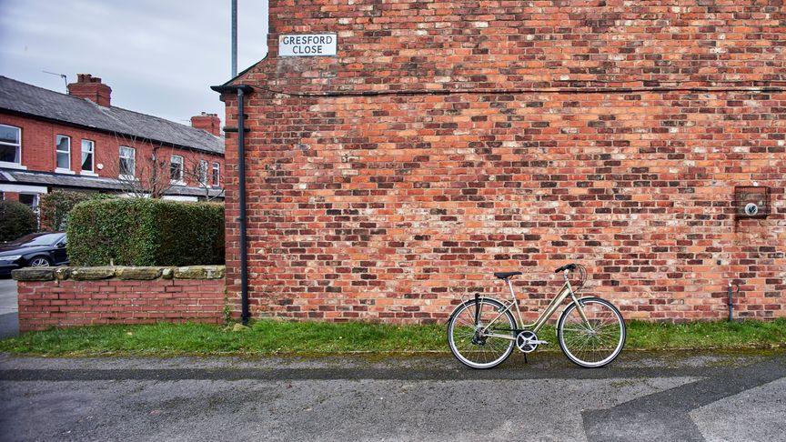 Bike standing on the street