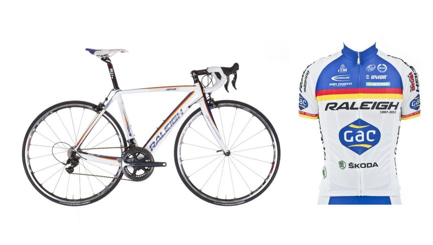 Raleigh team bike and Jersey
