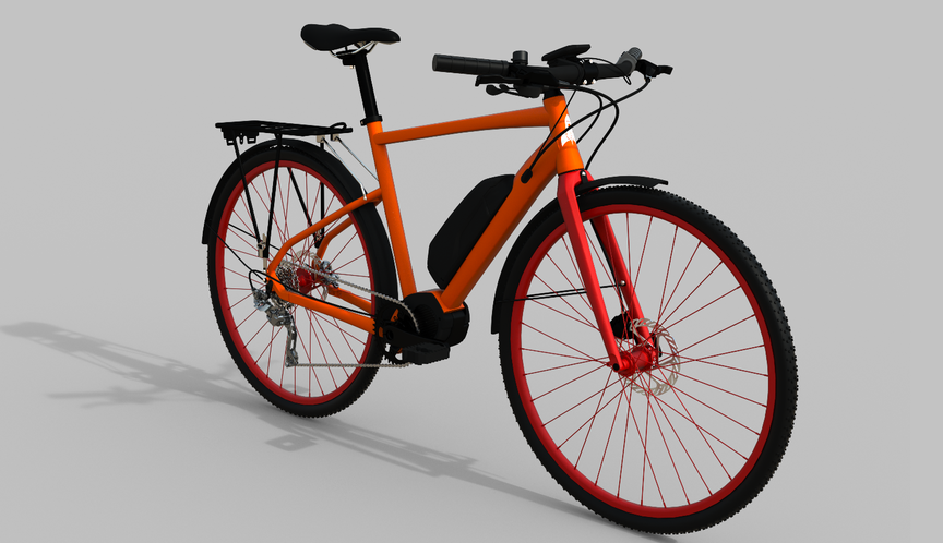 Picture of an e-fit ebike