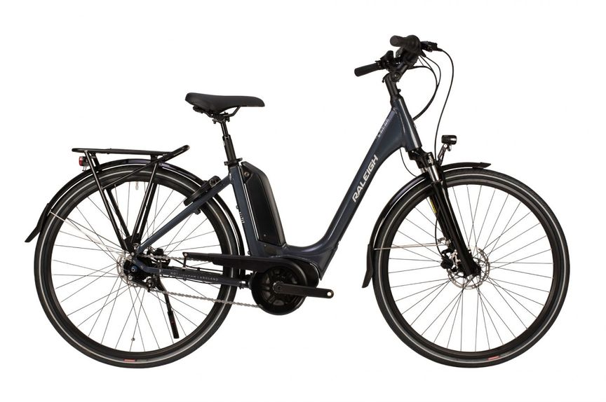 Picture showing an electric bike on the side with a white background