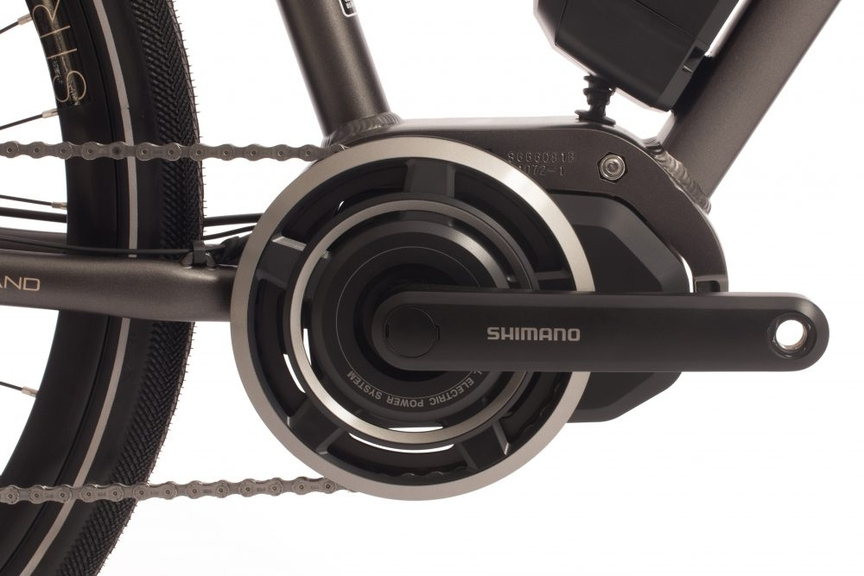 Close-up picture of a bike's centre mount