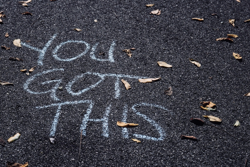 Picture of the ground with the message