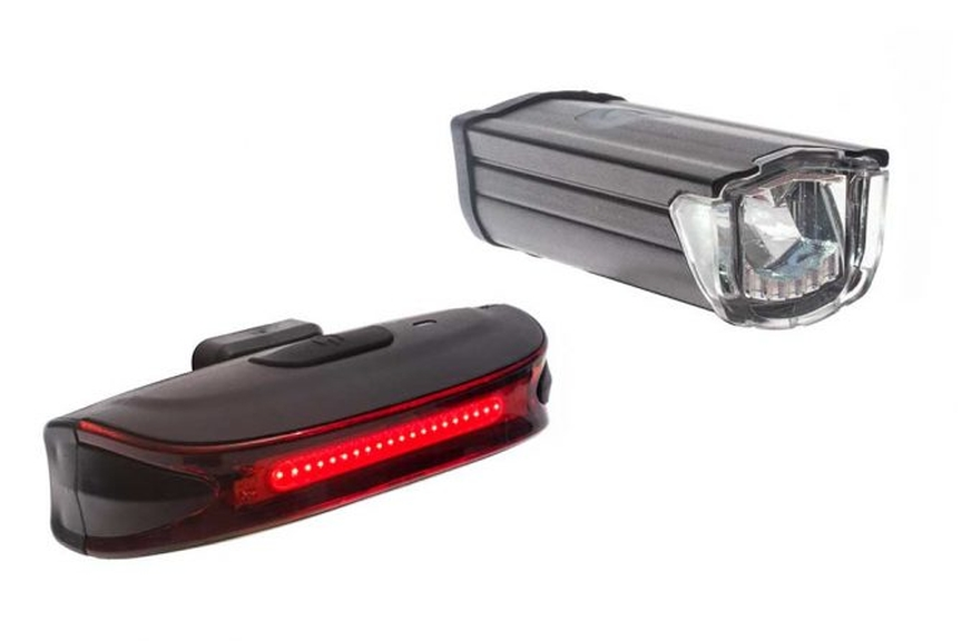 Picture of two bike lights.