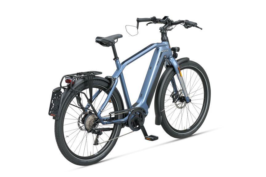 Achteraanzicht van de Sparta e-bike D-burst m11tb Grayisch Blue achter gents