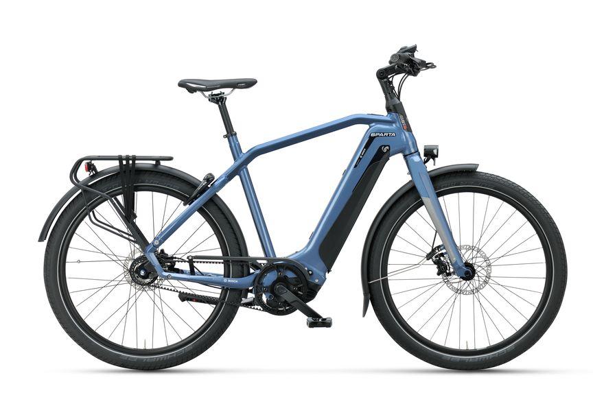Zijaanzicht van de Sparta e-bike D-Burst M8Tb Grayish Blue Gents