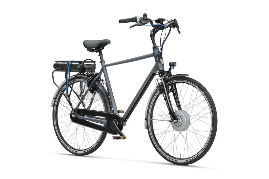 Vooraanzicht heren e-bike A-shine f8e midgrey matte van Sparta