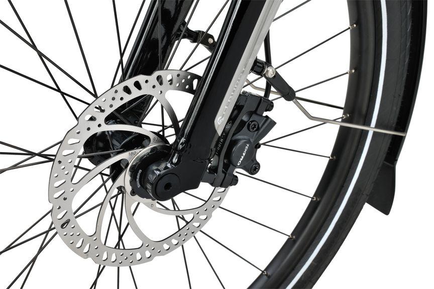 Detailfoto van de  schijfrem op de Sparta e-bike D-Burst M8Tb
