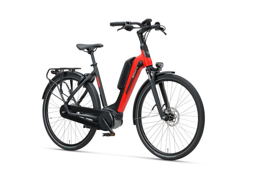 Vooraanzicht van Sparta E-bike D-Rule M8Tb Red Black Matte