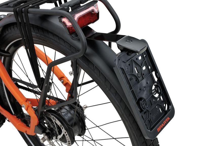 Detailfoto van de kentekenhouder van de Sparta e-bike D-Burst MeTb