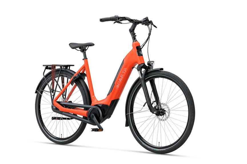 Vermillion Matte Sparta c-GRID ENERGY M7Tb dames E-bike met Bosch Active Line middenmotor en PowerTube