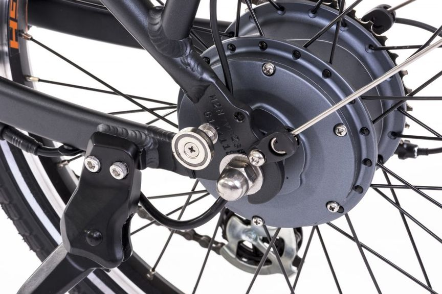 Close-up picture of a bike's rear wheel