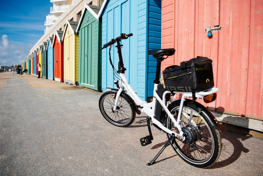 Picture of a foldable ebike