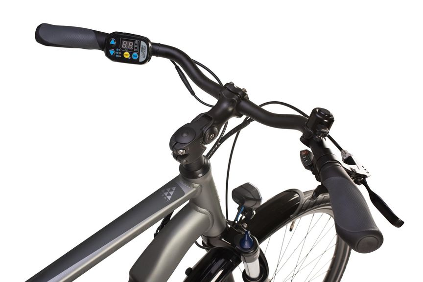 Close-up picture of a Suntour control panel for e-bike