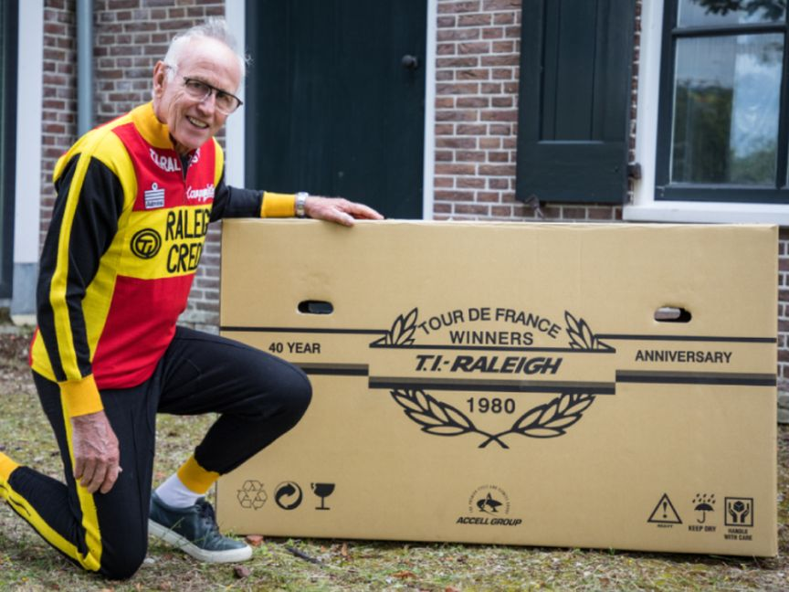 Joop with his new Ti-Raleigh bike