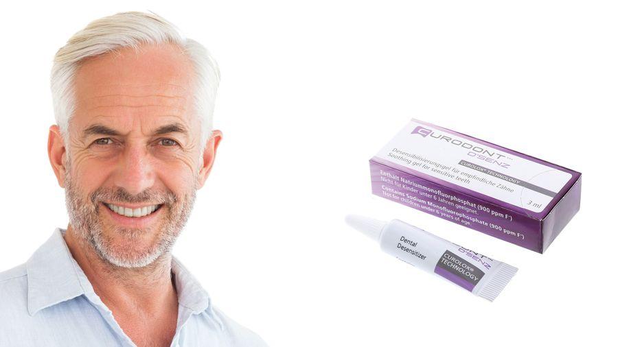 CURODONT D'SENZ zeigt schnellere Desensibilisierung als Spezial-Zahnpasta