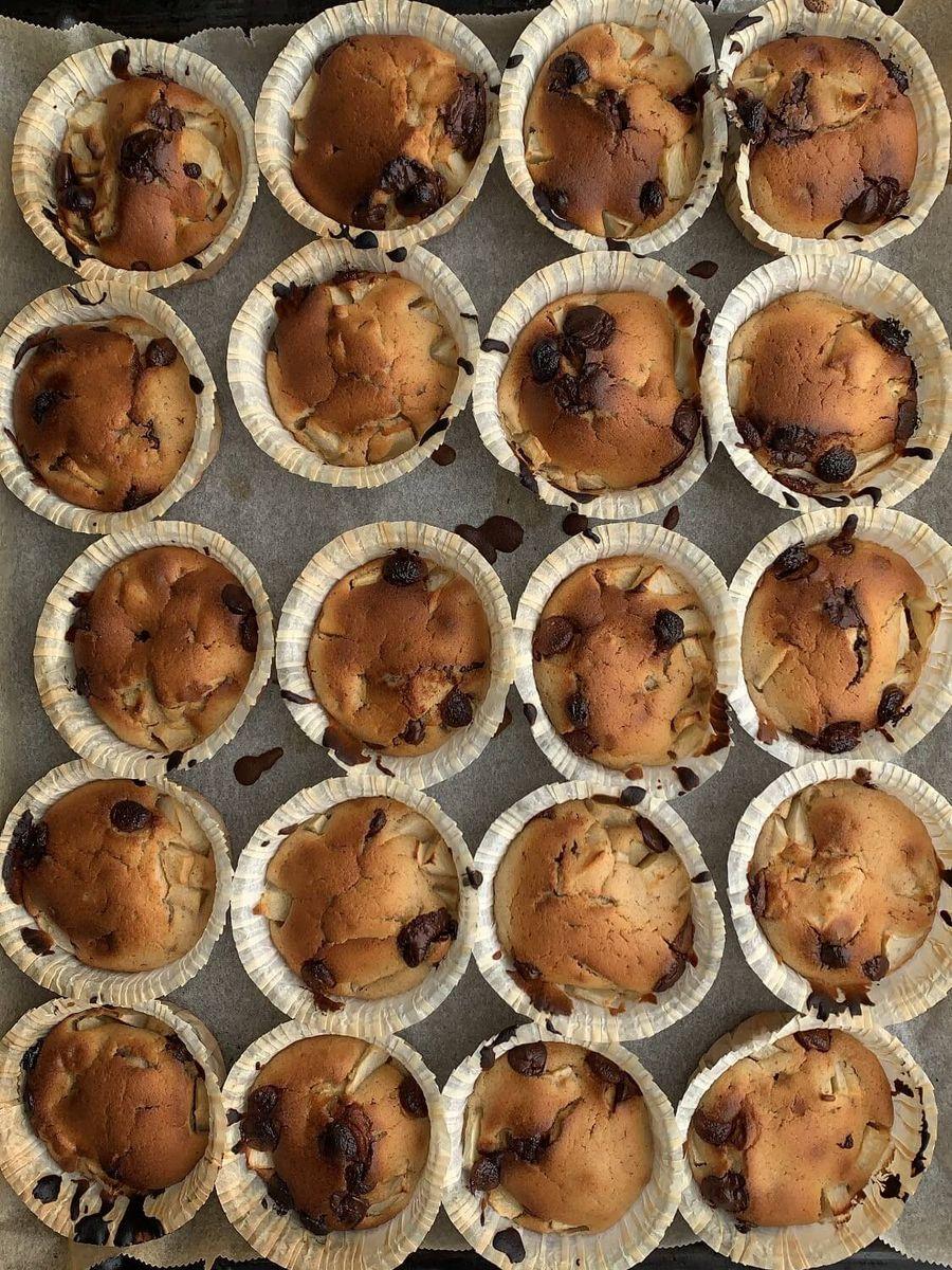 æblekage muffins top billede