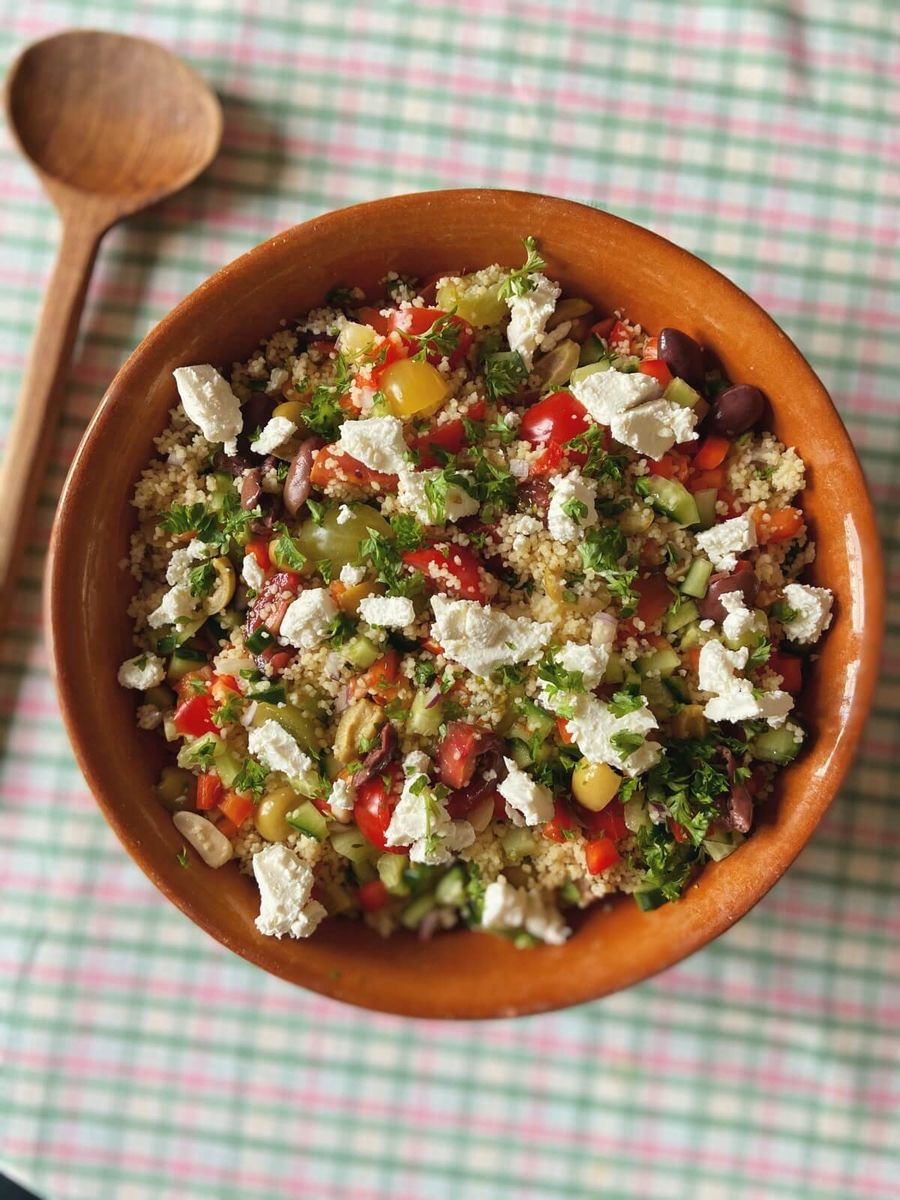 Vegetar couscous salat