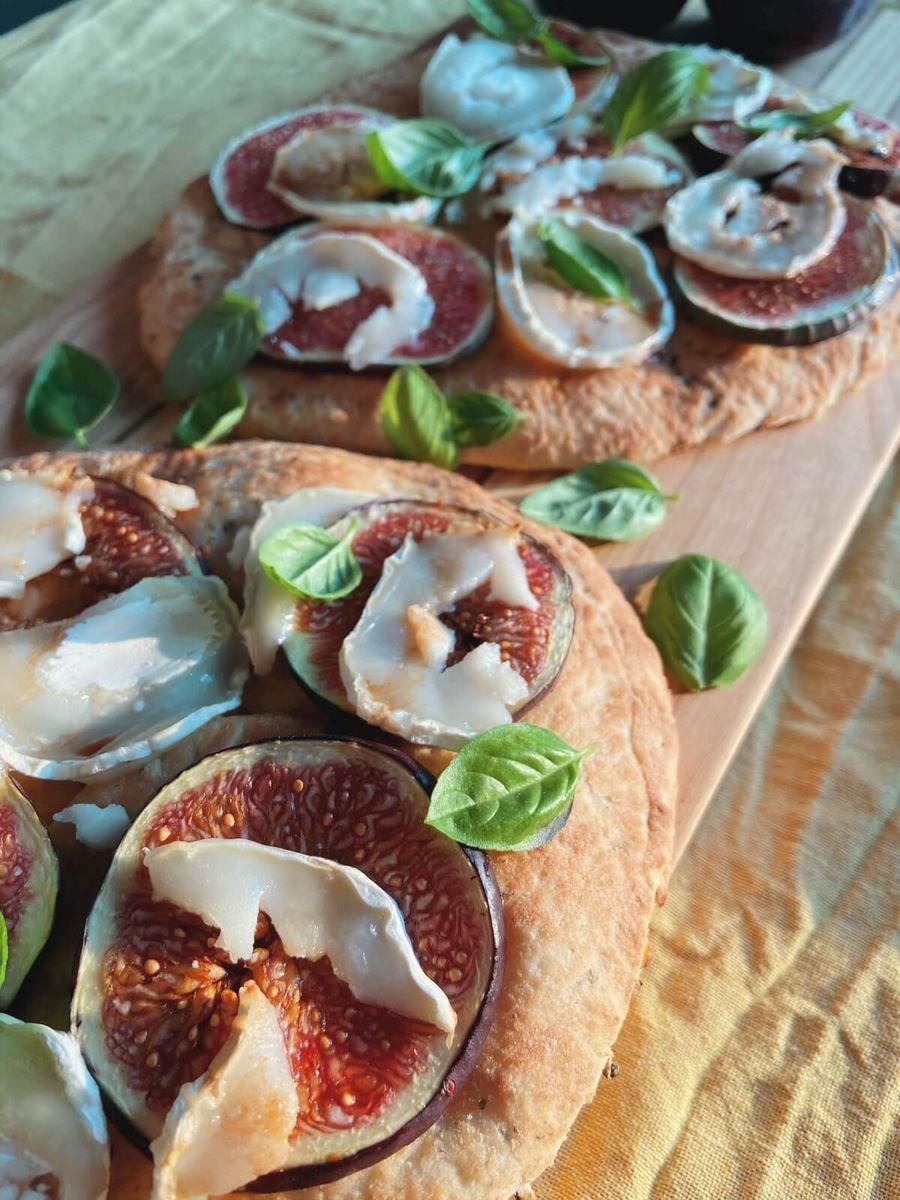 Vegetar - Naanbrød med figen og gedeost