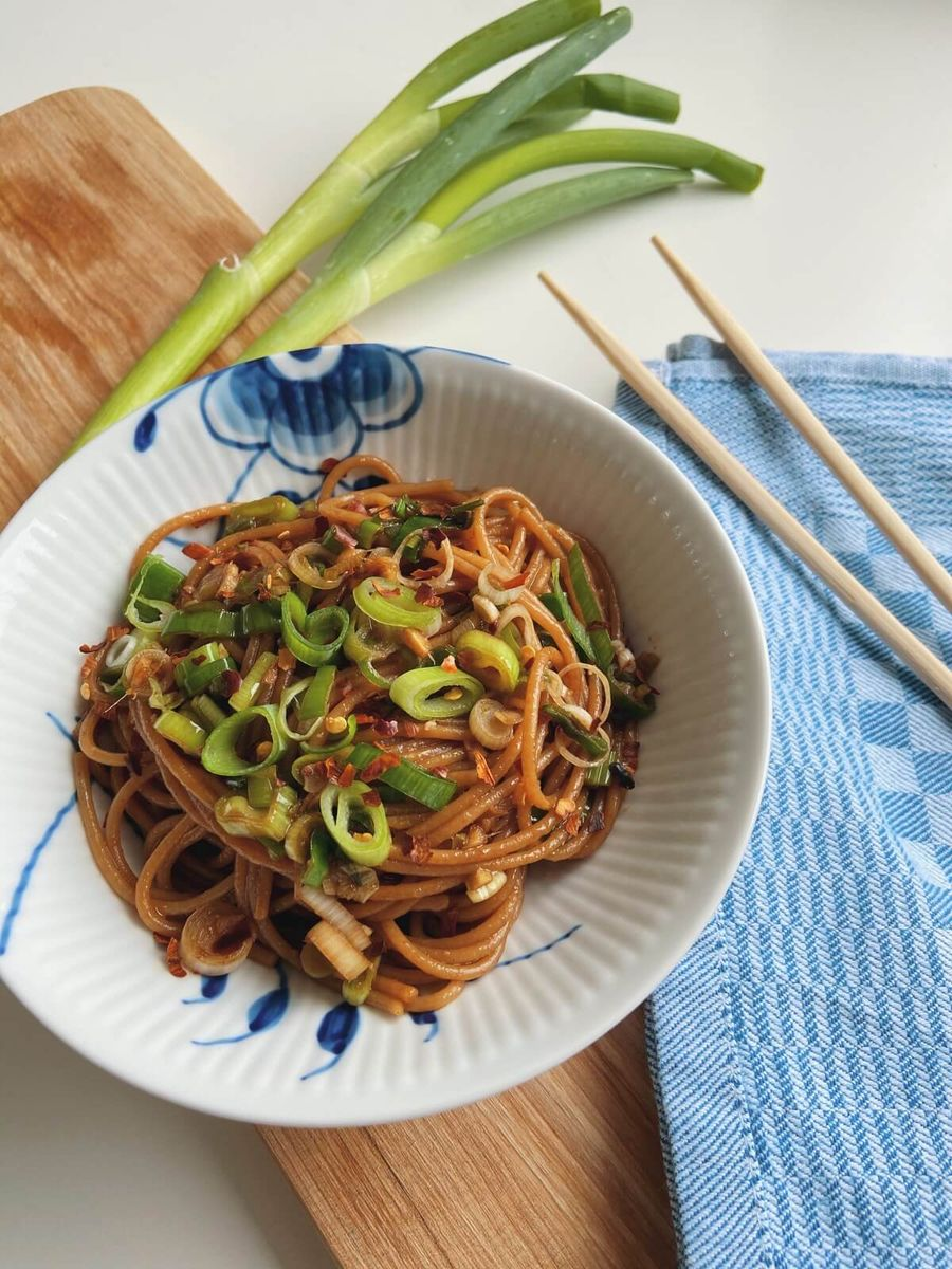 Asiatisk pasta opskrift