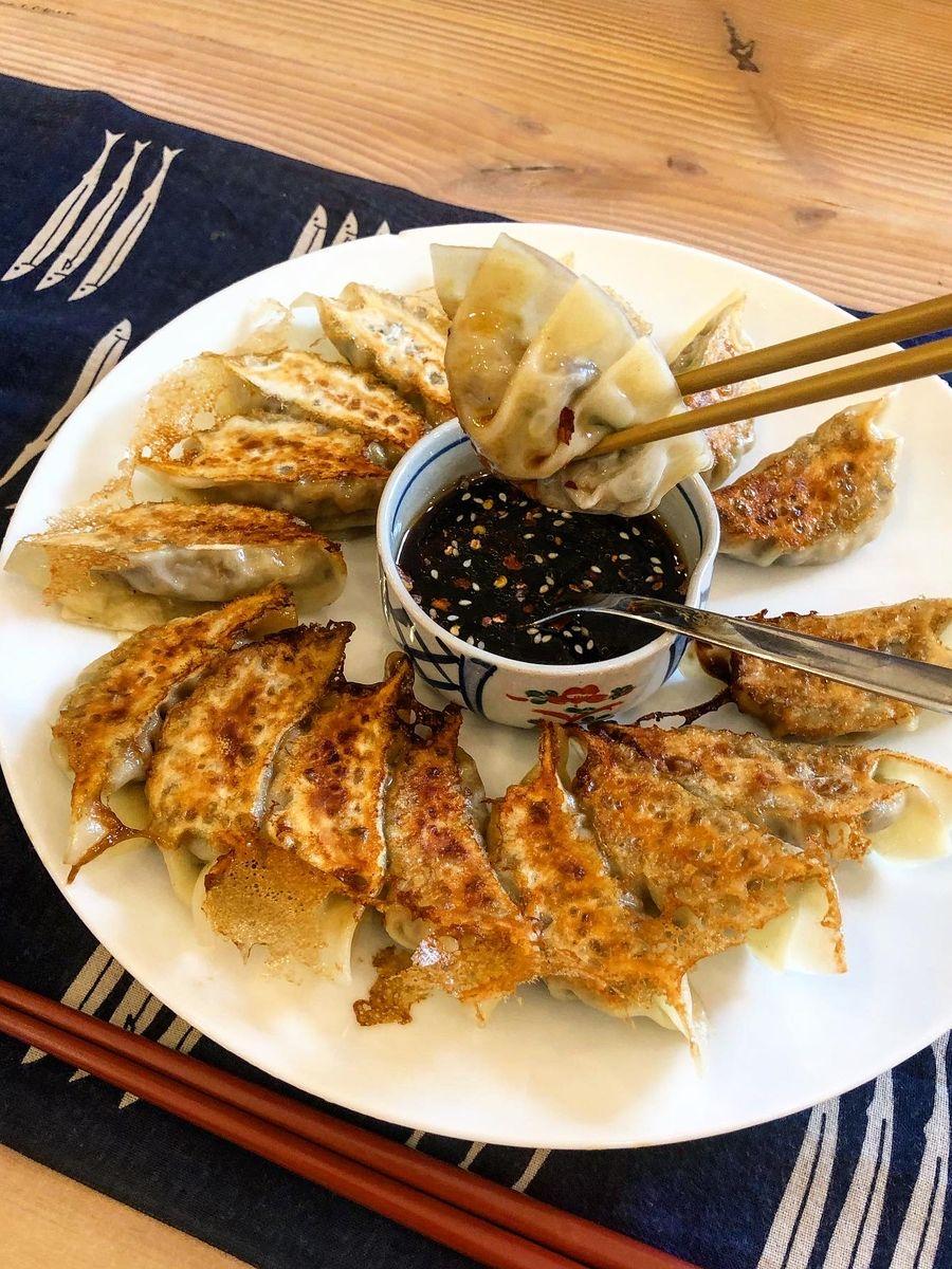 dumplings som er klar til at blive spist