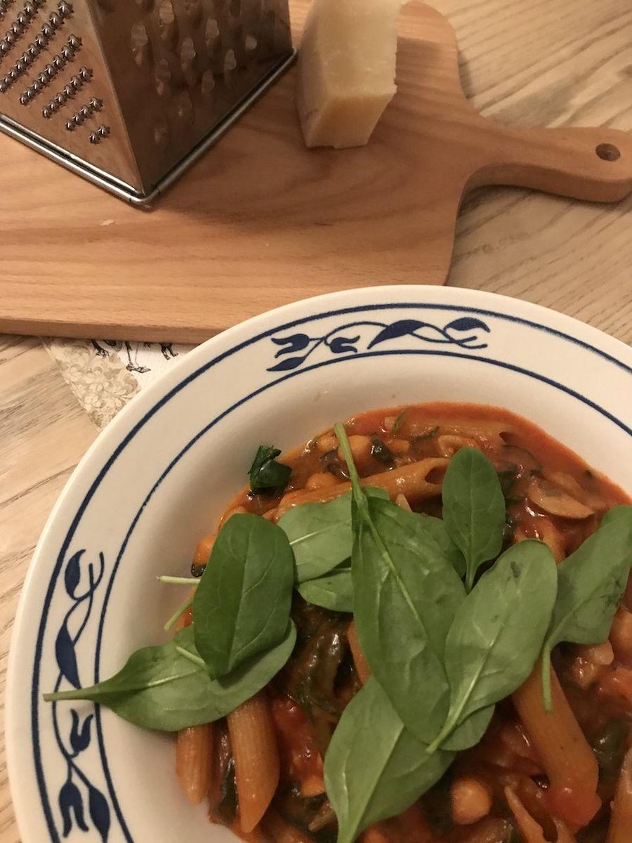 One pot pasta - opskrift - vegetar