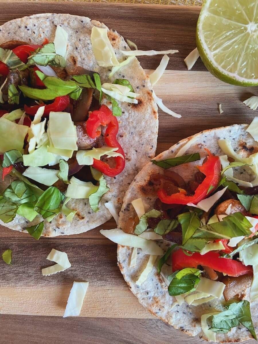 Opskrift - vegetar tacos med svampe
