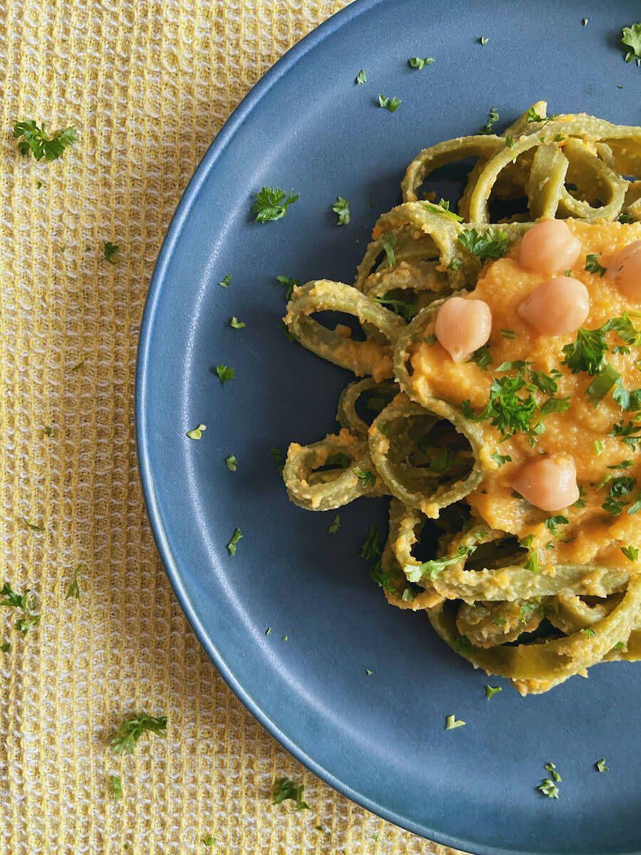 Opskrift - Pasta med kikærtesauce