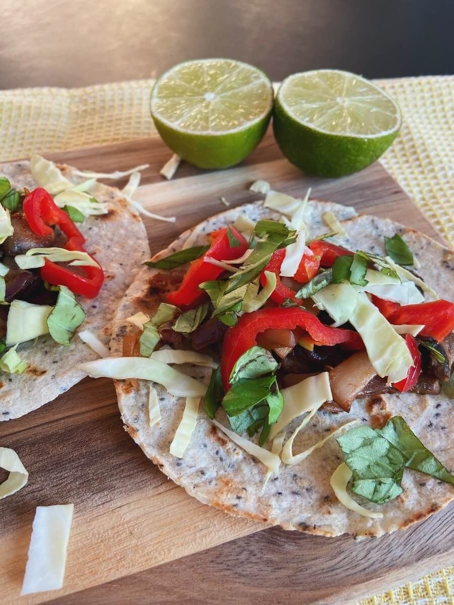 Vegetar tacos med lime