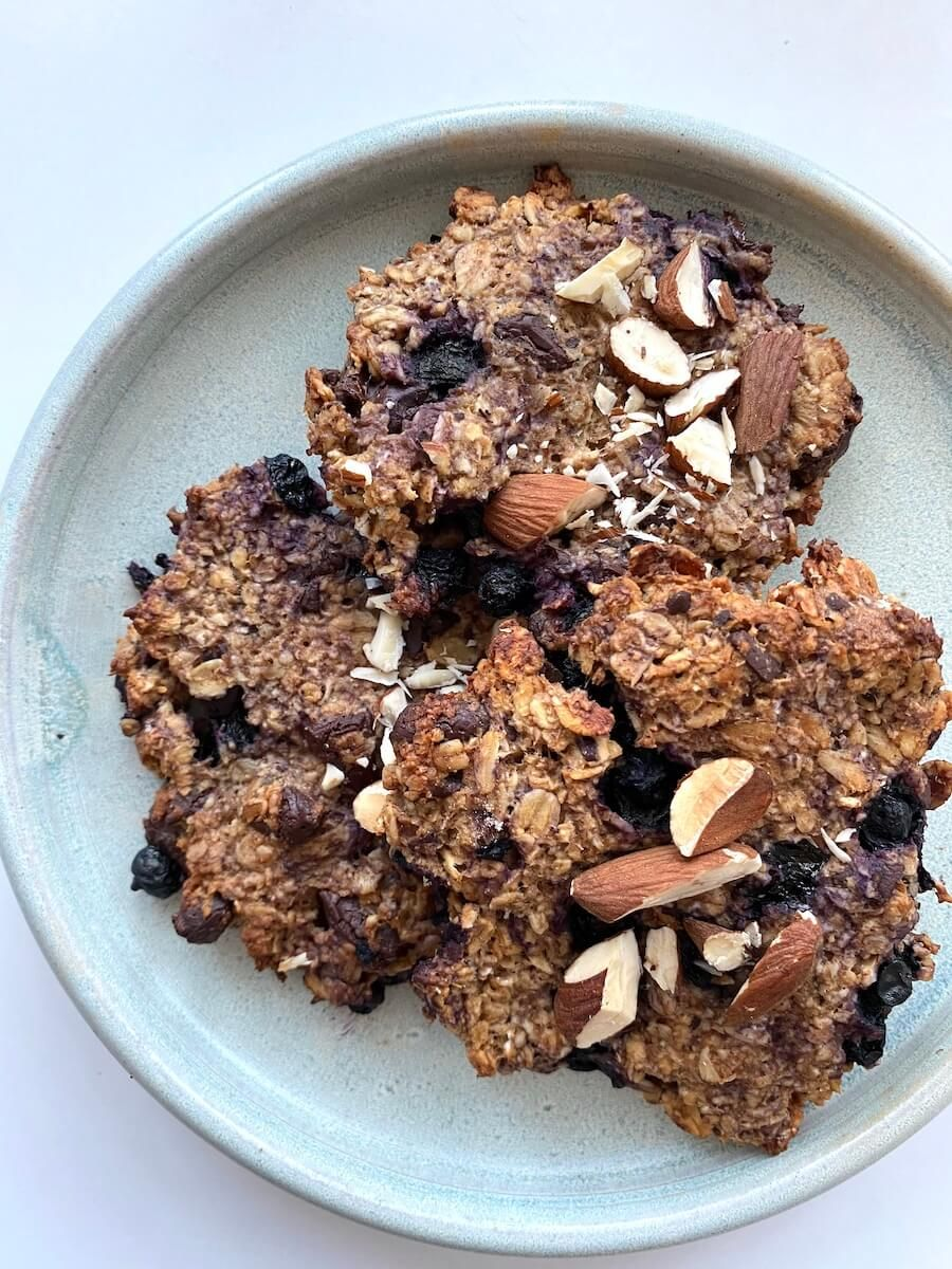 Cookies med blåbær og chokolade - vegetar