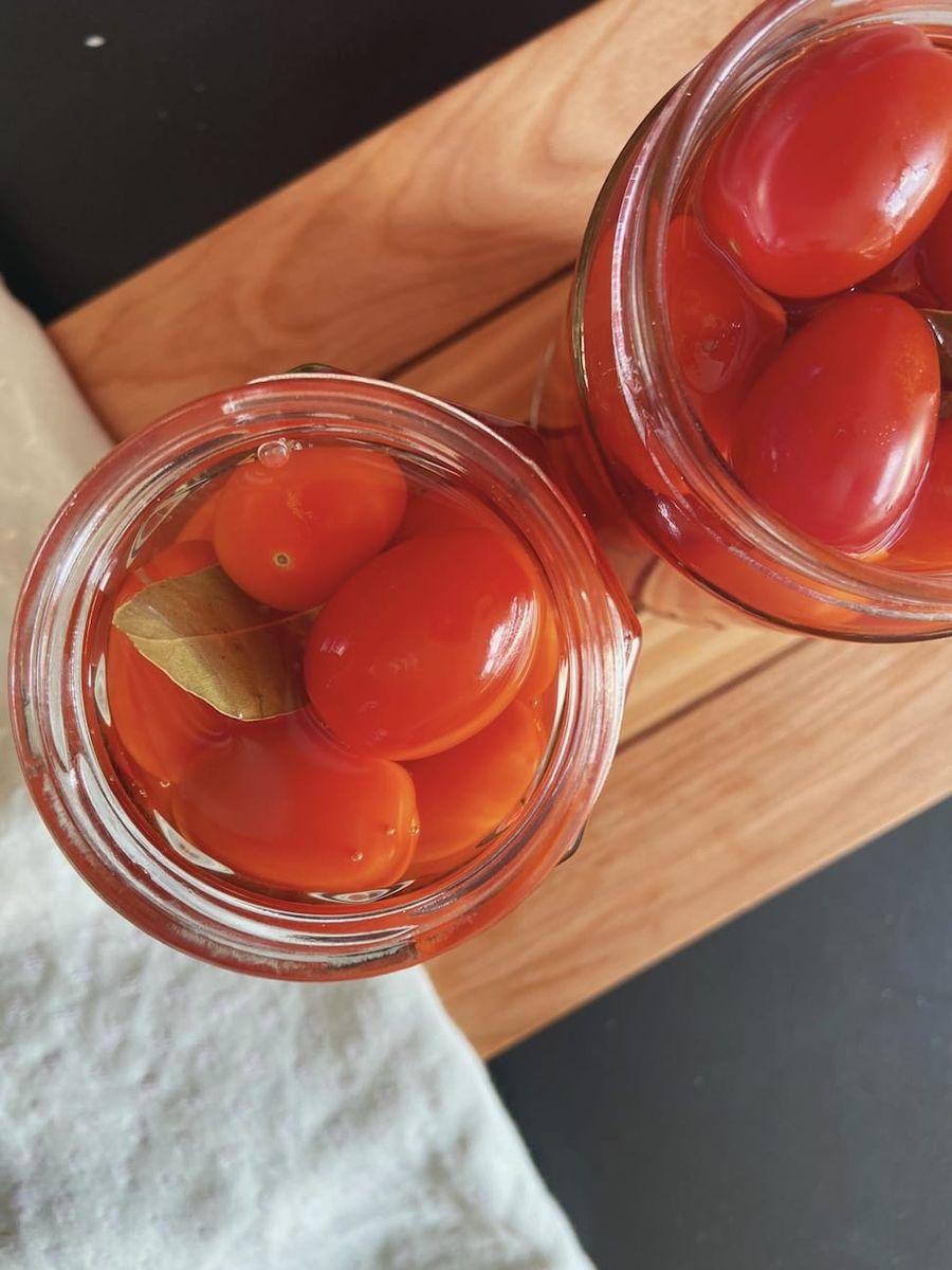 Syltede tomater - Opskrift