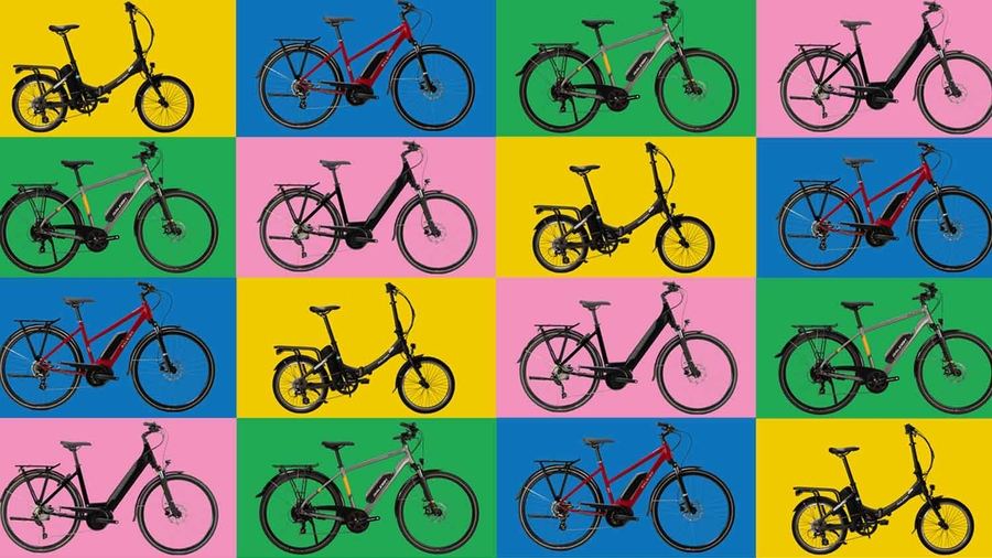 Tiled image of Raleigh bikes