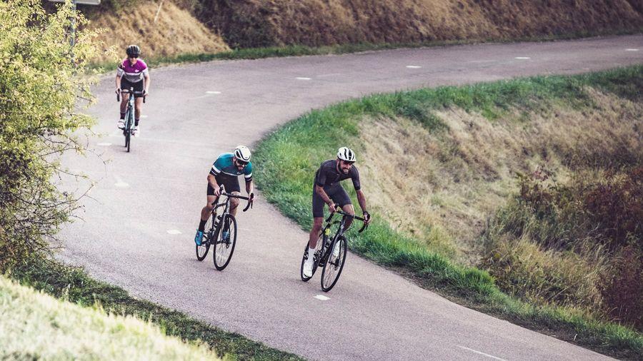 A group riding Lapierre bikes